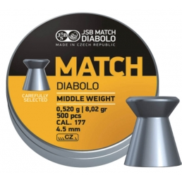 Пули JSB Yellow Match Diabolo Middle Weight 4.5 мм (500 шт.) - 0.52 г